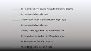 annabel lee by edgar allan poe today u0027s agenda an analysis of u201cannabel lee u201d ppt download