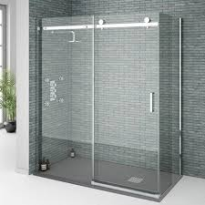 orion frameless sliding shower enclosure 1600x800mm at victorian