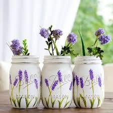How To Paint A Glass Vase With Acrylic Paint Mason Jar Projects