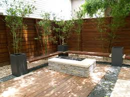 steel planters wood benches and bamboo final touches austin