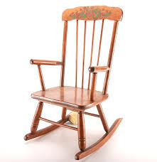 oak hill child u0027s vintage rocking chair with music box ebth