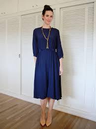 turmec long sleeve navy blue skater dress