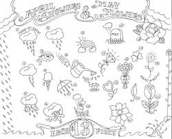 april showers bring may flowers coloring pages 425331 coloring