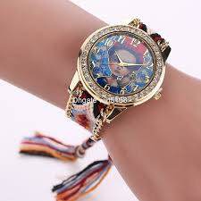 girl with bracelet images New design women girl watches handmade braided beautiful girl jpg