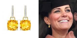 earrings kate middleton mcdonough classic cushion drop earrings kate middleton