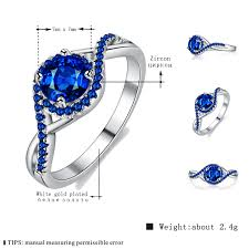 gold coloured rings images Mdean white gold color rings blue aaa zircon jewellery design jpg