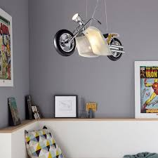 suspension chambre suspension pour chambre d enfant en forme de moto 2l e14 1l gu10