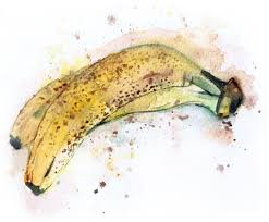 a bunch of bananas paint watercolor create