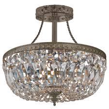 crystal semi flush mount lighting stylish ceiling crystal chandelier ceiling mounts crystal amp semi