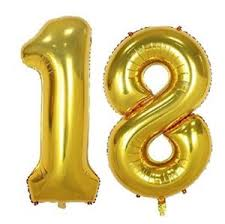 balloons for 18th birthday 16 18 gold number balloons 18th birthday party anniversary foil