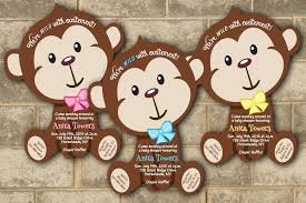 monkey decorations for baby shower monkey theme baby shower invitation ideas registaz