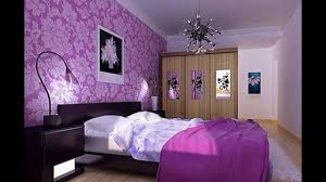 interior colors design of bedroom in purple colour interalle com
