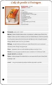 une recette de cuisine modele fiche recette cuisine vierge cb71 jornalagora