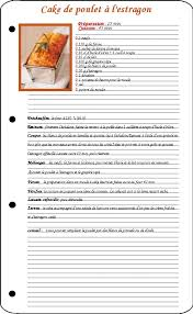 recette de cuisine modele fiche recette cuisine vierge cb71 jornalagora
