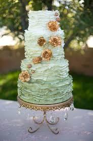 wedding cake harvest green ombre wedding cake with copper flowers elizabeth