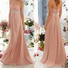 blush colored bridesmaid dress chiffon bridesmaid dresses sweetheart beaded with beaded belt