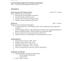 resume template with no work experience free resumes for highschool students with no work experience