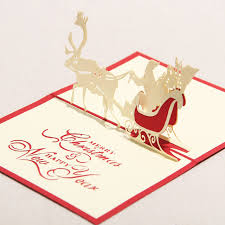happy new year paper cards 3d greeting card handmade paper crafts merry christmas happy