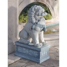 japanese guard dog statues design toscano foo dog of the forbidden city