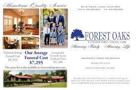 funeral cost forest oaks funeral home jasper tx funeral home and cremation
