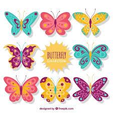 pack of butterflies designs vector free