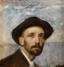 self portrait with soft hat julius paulsen trapholt museum for moderne kunst