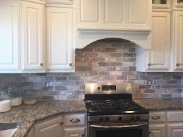 White Brick Backsplash Kitchen - interior furniture grey countertops added by white brick