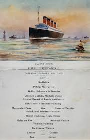 Titanic Second Class Menu by Wwi Online The Complex Case Of The Rms Lusitania