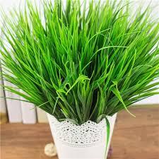 Wholesale Flowers Near Me Aliexpress Com Buy 7 Fork Green Grass Artificial Plants Plastic