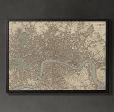 london map print home or office decor london was a masterpiece