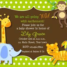 jungle themed baby shower baby shower invitations jungle theme dancemomsinfo