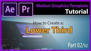 tutorial motion graphics template mogrt lower third part 02