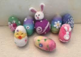 felted easter eggs needle felted easter eggs living felt