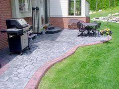 Diy Cement Patio by Recycled Broken Concrete Patio In Brentood Landscape Gardening