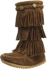 womens size 12 fringe boots amazon com minnetonka s 3 layer fringe boot mid calf