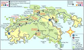 road map of st usvi st islands map major tourist attractions maps