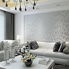 papier peint design chambre hanmero papier peint intissé damassé baroque haute qualité flocage