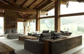 Contemporary Chalet With Rustic Atmosphere Rustic Contemporary - Rustic modern interior design