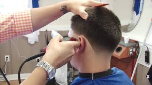 mens haircuts step by step step by step skin taper fade haircut shadow fade tutorial by hov
