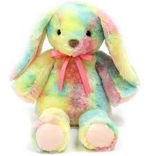 stuffed bunnies for easter easter wal mart 14 bunny plush rainbow walmart