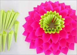 diy paper flowers how to make paper dahlia flower