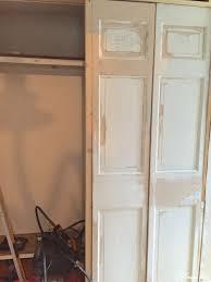 Making Bi Fold Closet Doors by Diy Closet Door Makeover Bi Fold To Hinged Lehman Lane