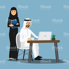 freelance developer arabian or designer working at homevector