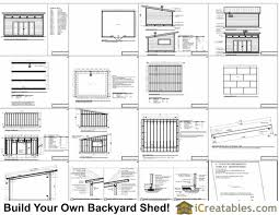 16x20 modern studio shed plans example cabin ideas pinterest