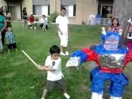 optimus prime pinata el alex y su piñata de transformers