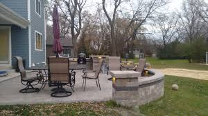 Belgard Fire Pit by Gas Fire Pit With Fire Glass By Archadeck Of Chicagoland