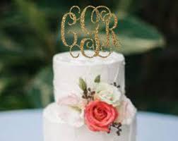 monogram cake toppers for weddings monogram cake topper etsy