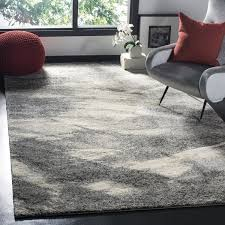 Modern Square Rug Safavieh Retro Mid Century Modern Abstract Grey Ivory Rug 6