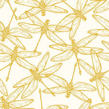 dragonfly scatter wallpaper surface pattern english gardens and