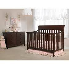 Chelsea Convertible Crib Bivona Company Chelsea 4 In 1 Convertible Crib Brown Walmart